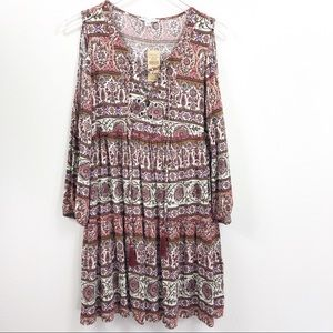 American Eagle | Cold Shoulder Boho Tie Dress